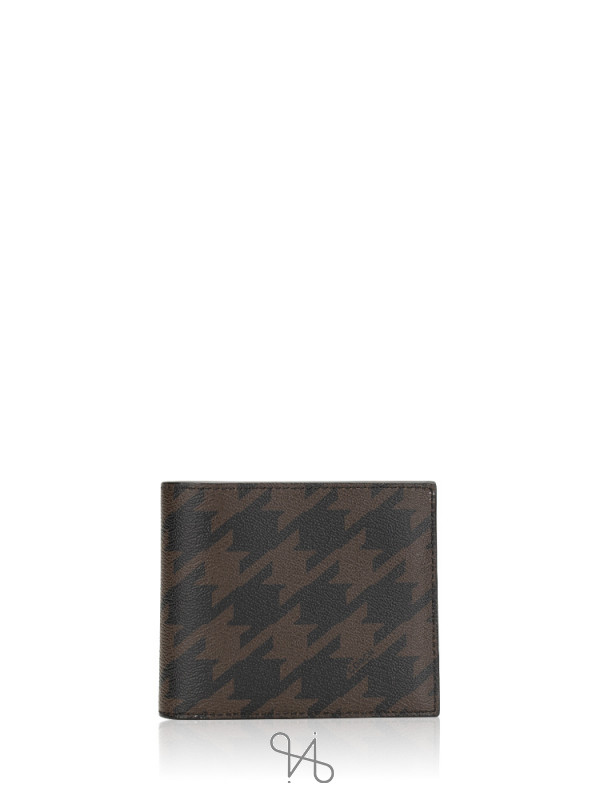 COACH Men 37885 Houndstooth Leather Compact ID Gift Set Grey Multi