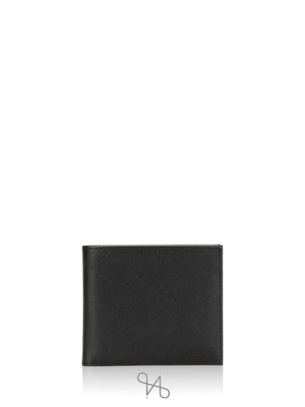 PRADA Men 2MO513 Saffiano Bifold Wallet Nero