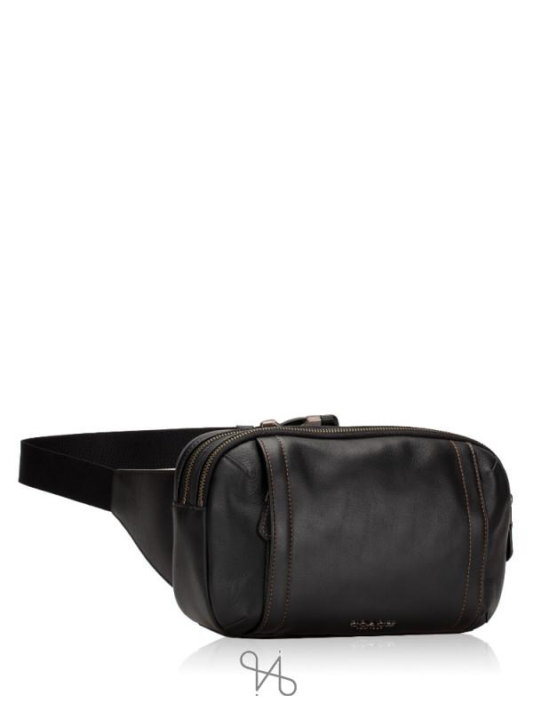 COACH Men 37594 Graham Leather Utility Pack Black