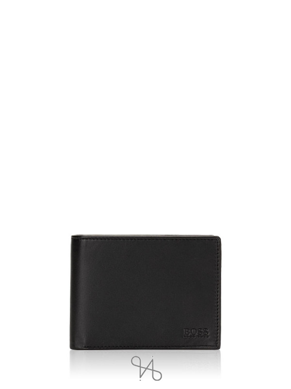 HUGO BOSS Men Arezzo Leather Bifold Wallet Black