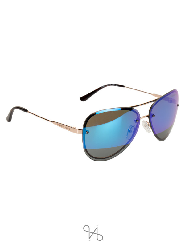 MICHAEL KORS MK1026 La Jolla Aviator Mirror Sunglasses Blue