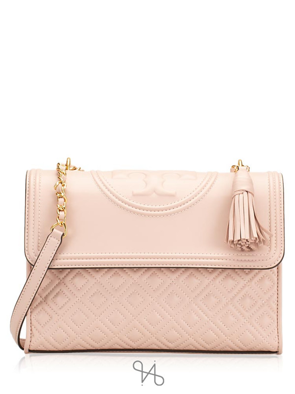 TORY BURCH Fleming Convertible Shoulder Bag Shell Pink