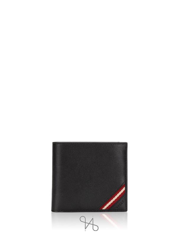 BALLY Men Miollen Leather Wallet Black