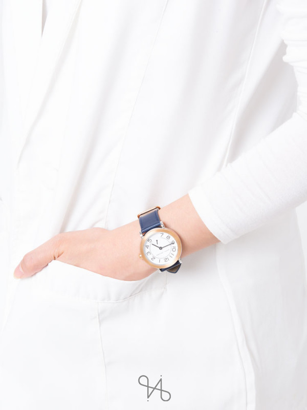 MARC JACOBS MJ1602 Riley Leather Strap Navy