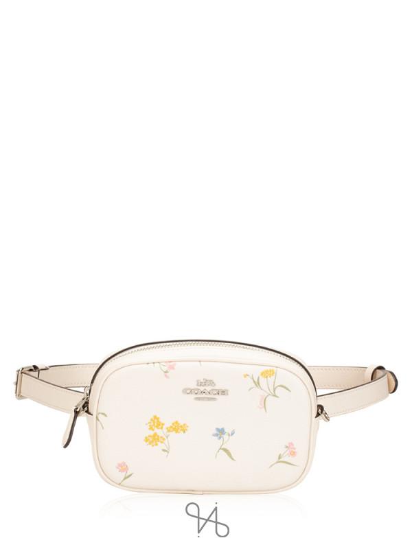 COACH 73356 Multi Flower Belt Bag Chalk
