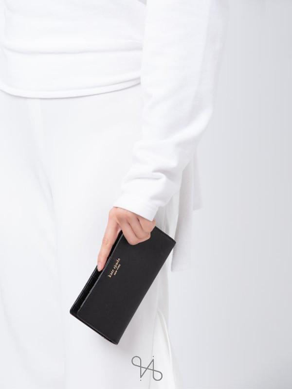 KATE SPADE Cameron Large Slim Bifold Wallet Black