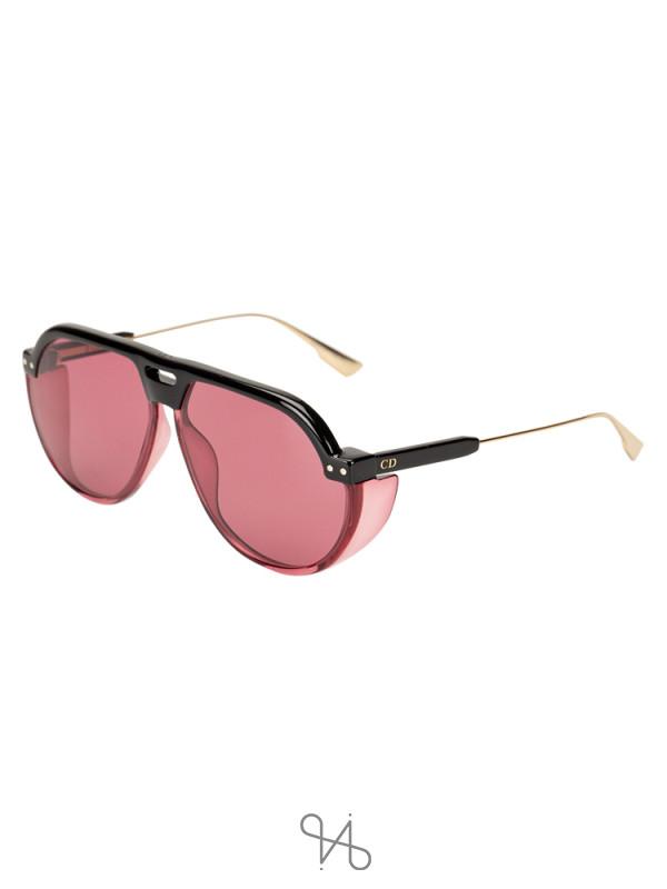 DIOR 3H2U1 Aviator Sunglasses Black Pink