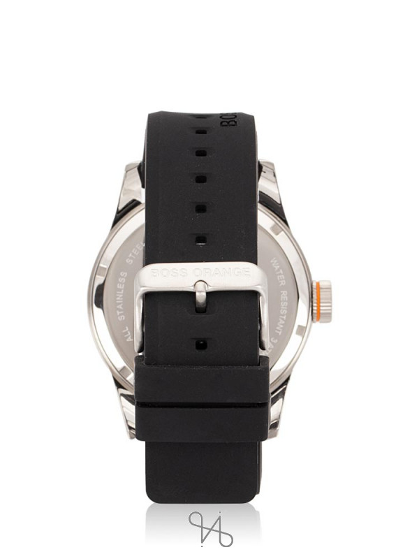 HUGO BOSS Men 1513350 Paris Rubber Strap Black