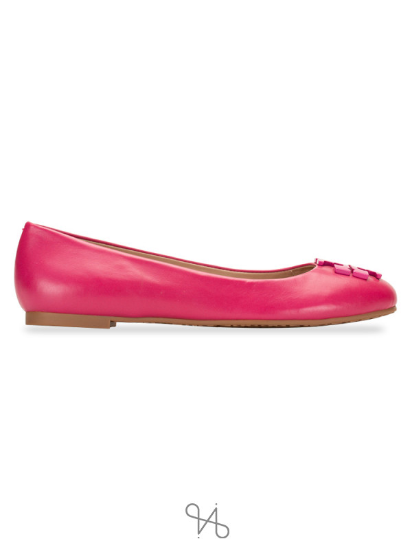 TORY BURCH Lowell 2 Leather Flats Saucy Pink Sz 5