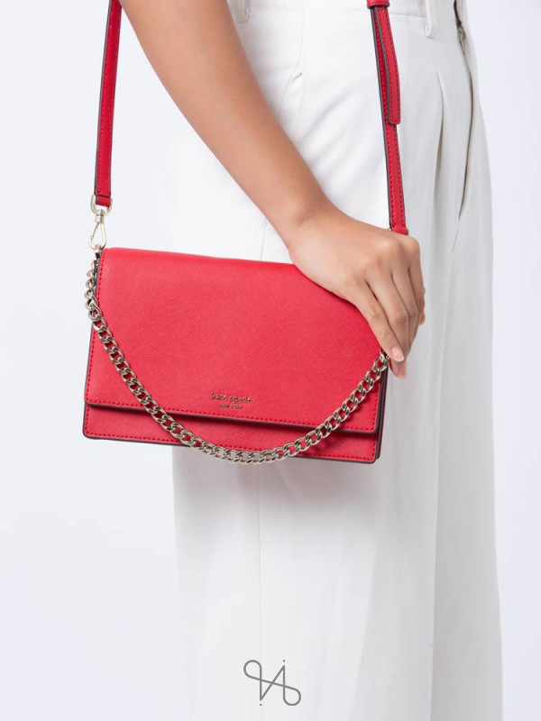 KATE SPADE Cameron Convertible Crossbody Hot Chili