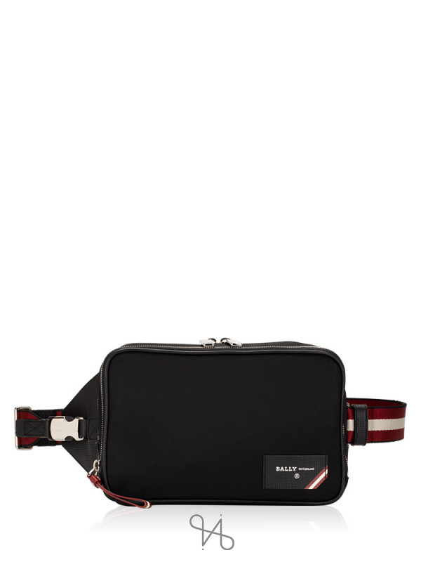 BALLY Men Folys Nylon Waist Bag Black