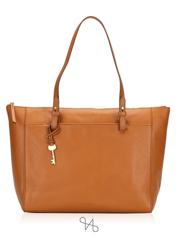 FOSSIL ZB7507231 Rachel Top Zip Tote Tan