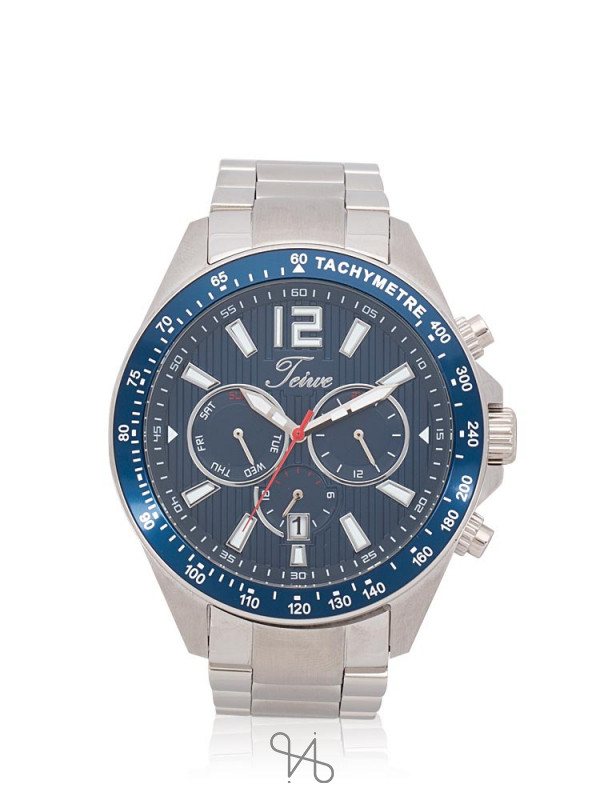 TEIWE Men TWC-18041 Chronograph Stainless Silver