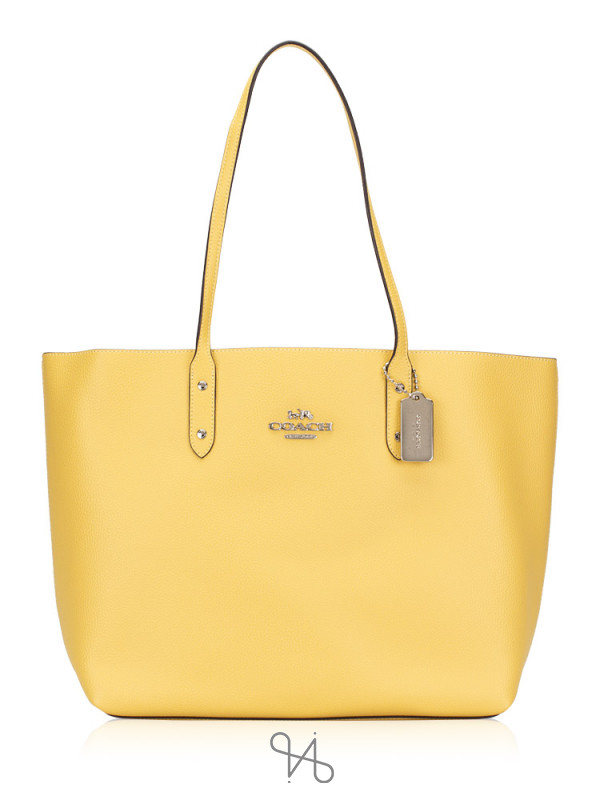 COACH 72673 Leather Town Tote Sunflower