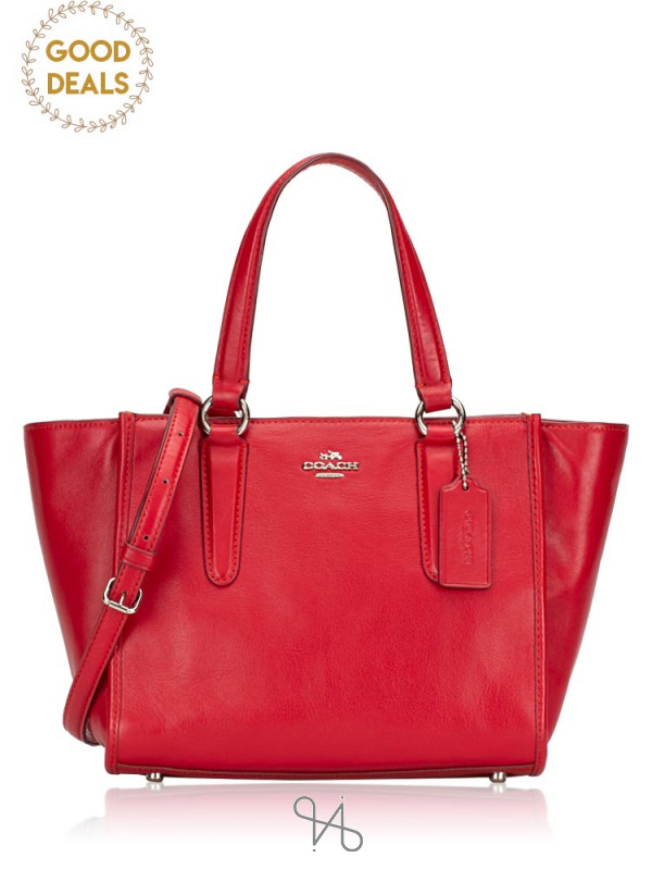 COACH 33537 Smooth Leather Mini Crosby Red
