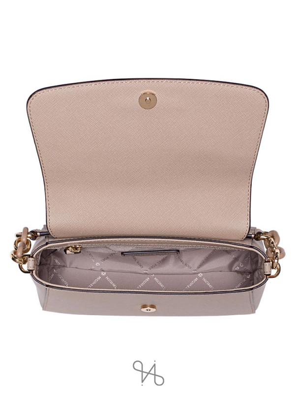 MICHAEL KORS Sofia Saffiano Small Satchel Bisque