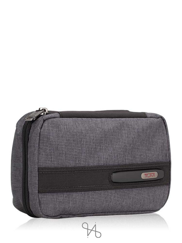 TUMI Men Split Case Travel Kit Toiletry Bag Grey