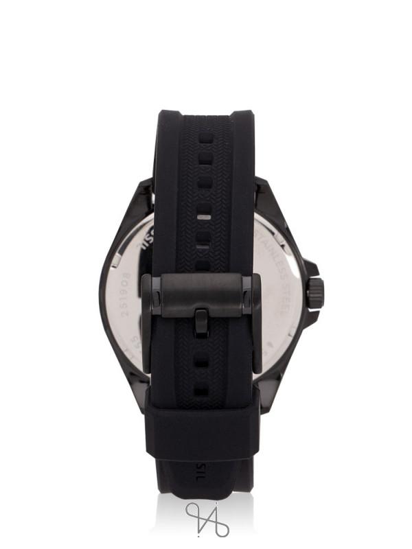 FOSSIL Men BQ2355 Neale Chronograph Silicone Strap Black