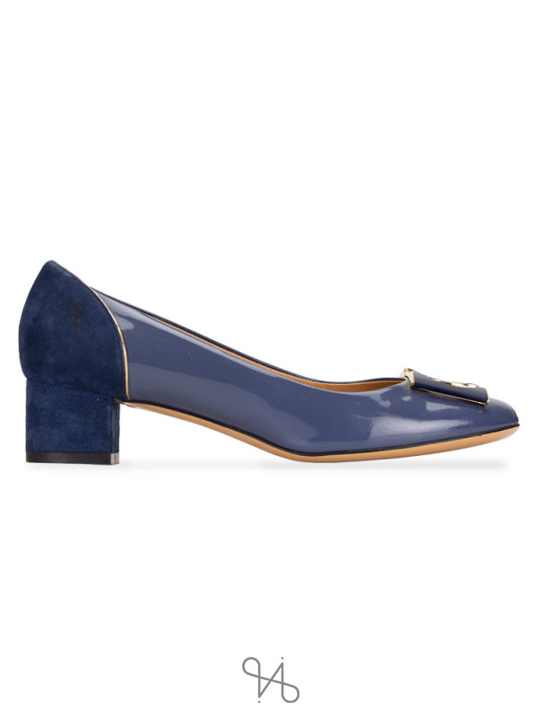 SALVATORE FERRAGAMO Missy Pump Oxford Blue Sz 6.5