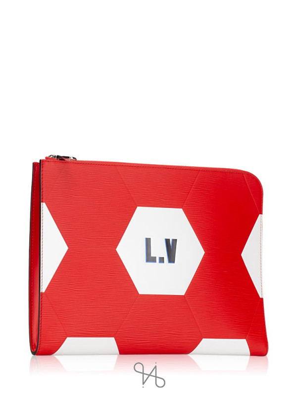 LOUIS VUITTON Men Pochette Jour GM World Cup Rouge
