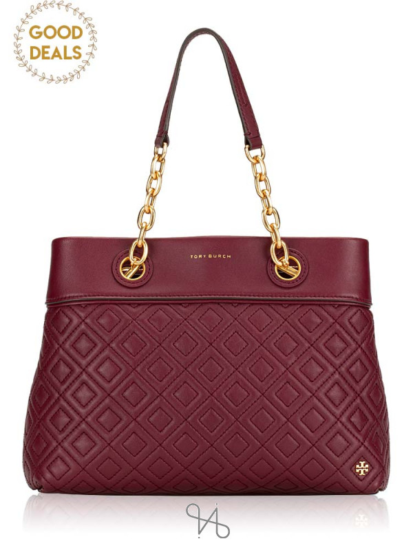 TORY BURCH Fleming Small Tote Imperial Garnet