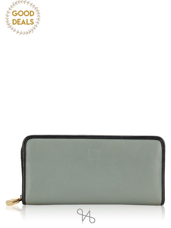LOEWE Amazona Continental Zip Wallet Grey