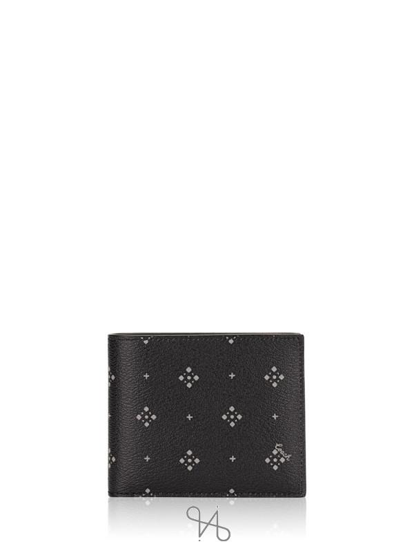 COACH Men 73118 Diamond Foulard 3 In 1 Compact ID Gift Set Black Multi
