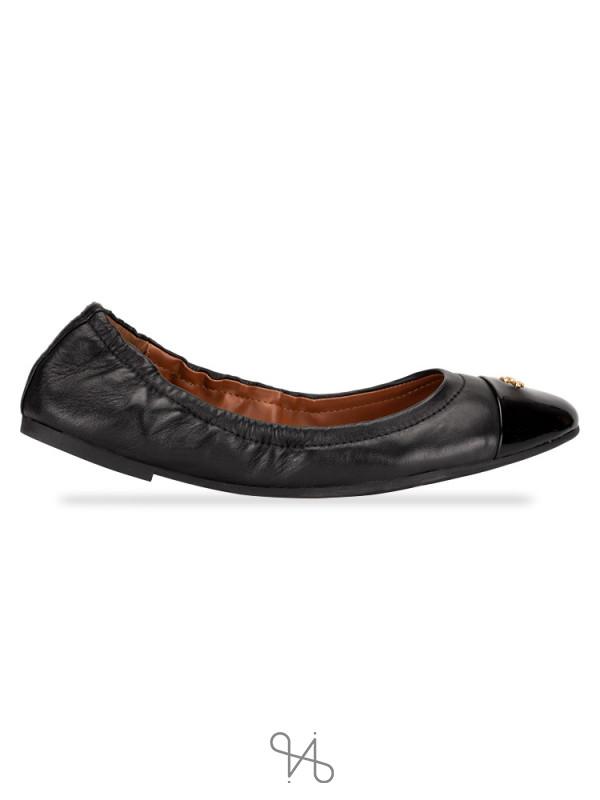 COACH Bonnie Leather Ballet Flats Black Sz 6.5
