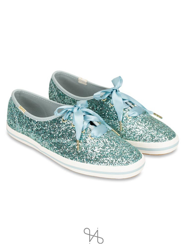 KEDS X Kate Spade Champion Glitter Dusty Blue Sz 6.5