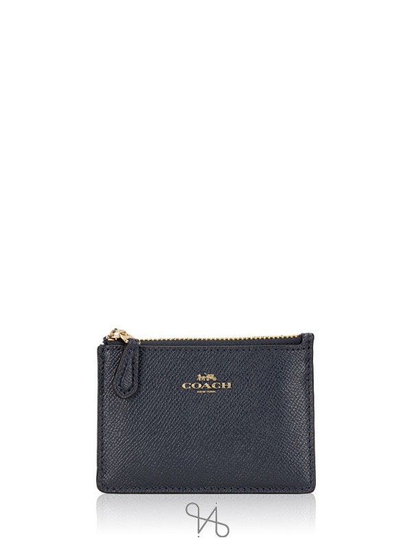 COACH 12186 Crossgrain Mini Skinny ID Midnight