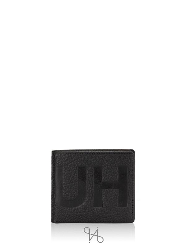 HUGO BOSS Men Victorian Leather Bifold Wallet Black