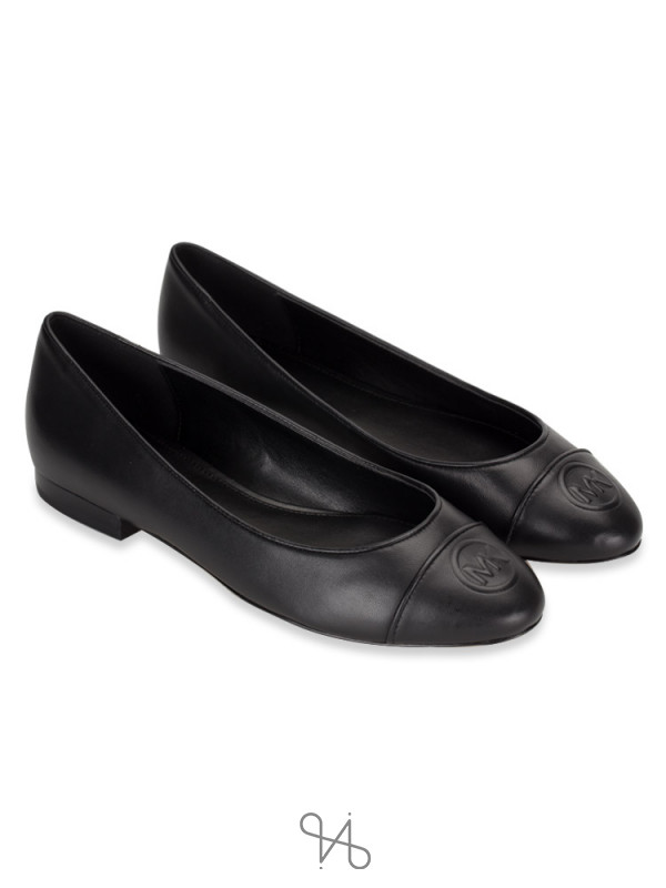 MICHAEL KORS Dylyn Leather Slip On Ballet Black Sz 7.5