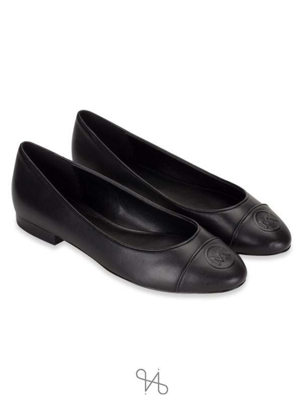 MICHAEL KORS Dylyn Leather Slip On Ballet Black Sz 8