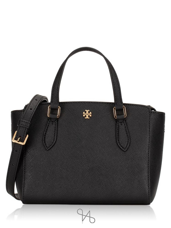 TORY BURCH Emerson Mini Top Zip Tote Black