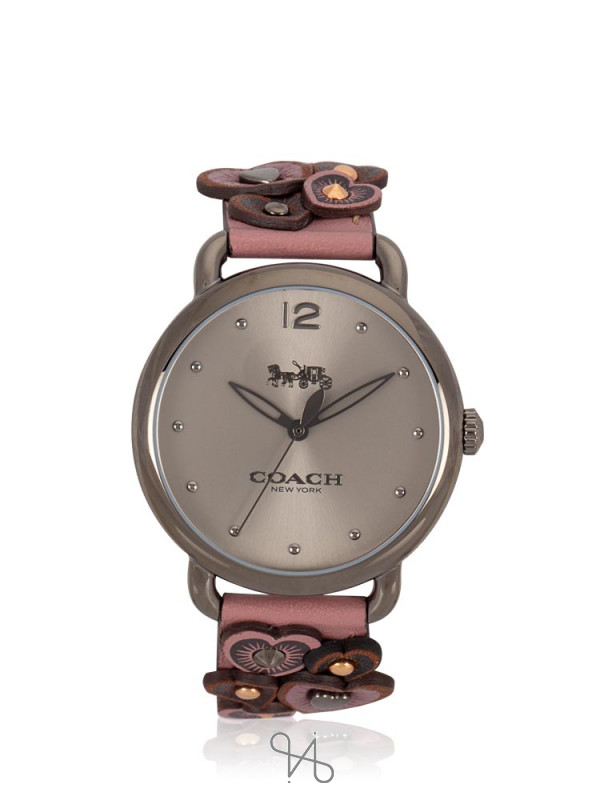 COACH 14503080 Delancey Leather Rose Grey
