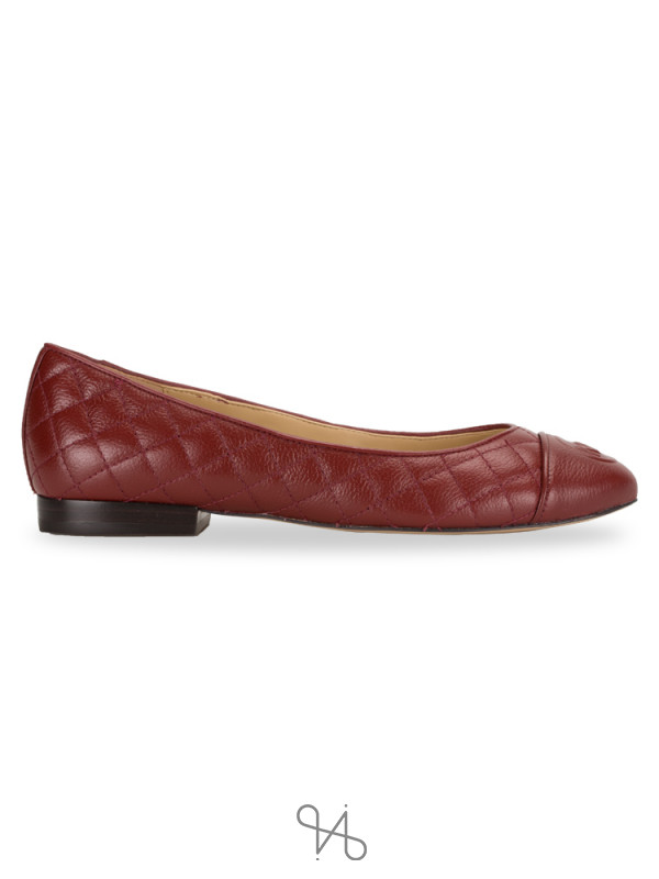 MICHAEL KORS Dylyn Leather Ballet Flats Brandy Sz 5.5