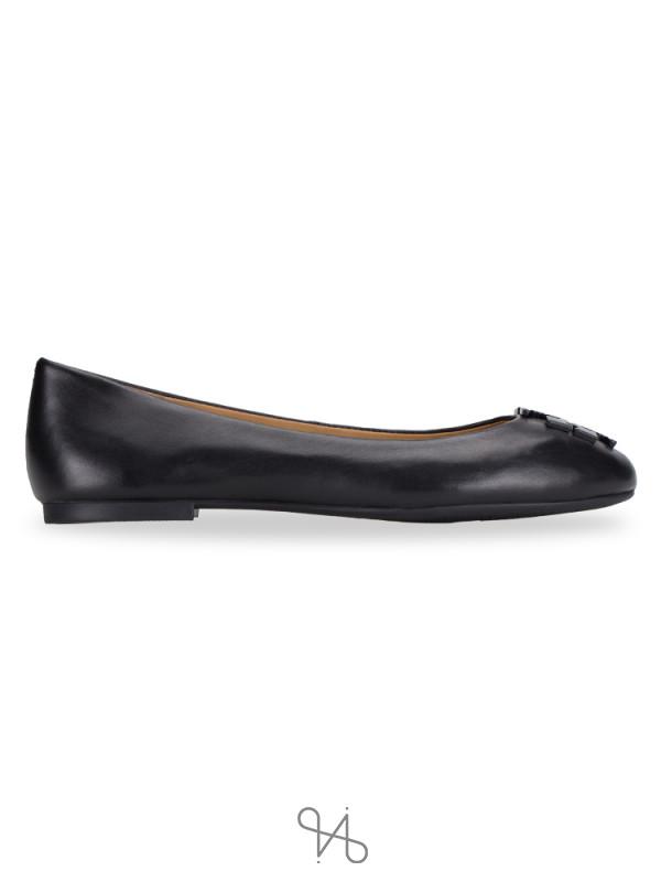 TORY BURCH Lowell 2 Leather Flats Perfect Black Sz 6