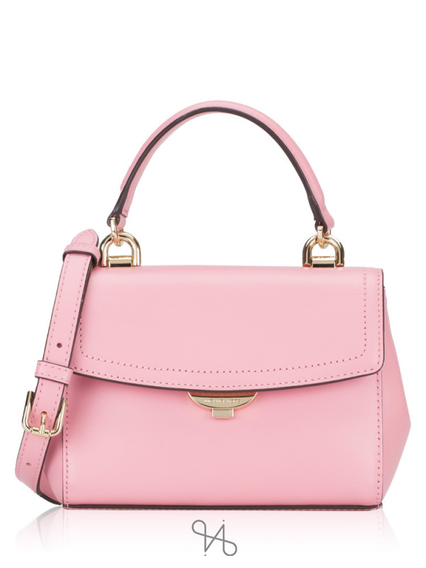 MICHAEL KORS Ava Xs Leather Top Handle Crossbody Carnation