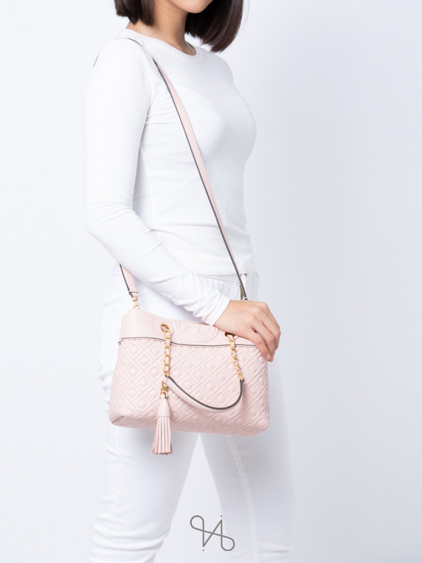 TORY BURCH Fleming Small Tote Shell Pink