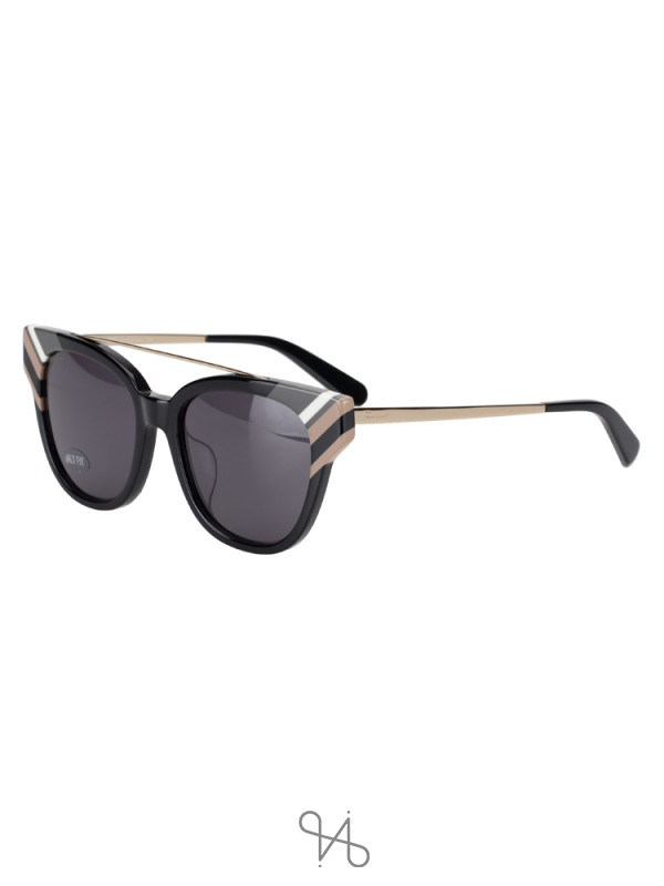 SALVATORE FERRAGAMO SF882SA Cat Eye Sunglasses Black