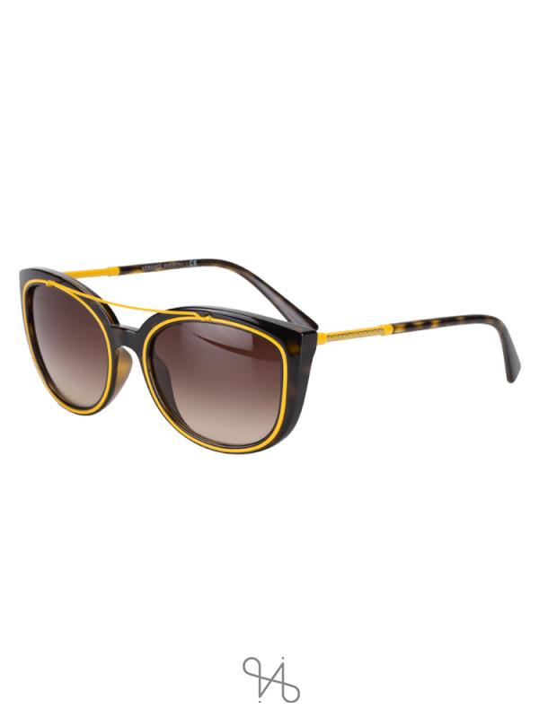 VERSACE 4336 Mirror Sunglasses Yellow Brown Gradient