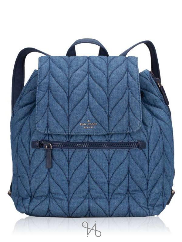 KATE SPADE Ellie Large Flap Backpack Denim