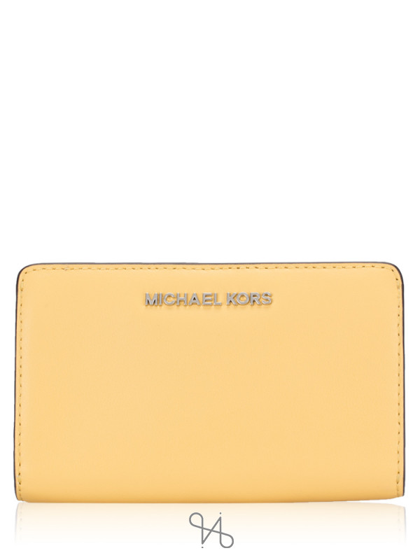 MICHAEL KORS Jet Set Leather Slim Bifold Wallet Dusty Daisy