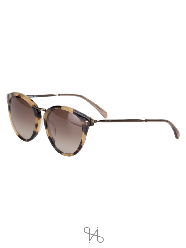 FOSSIL Fos 2092 Cat Eye Sunglasses Brown Tortoise
