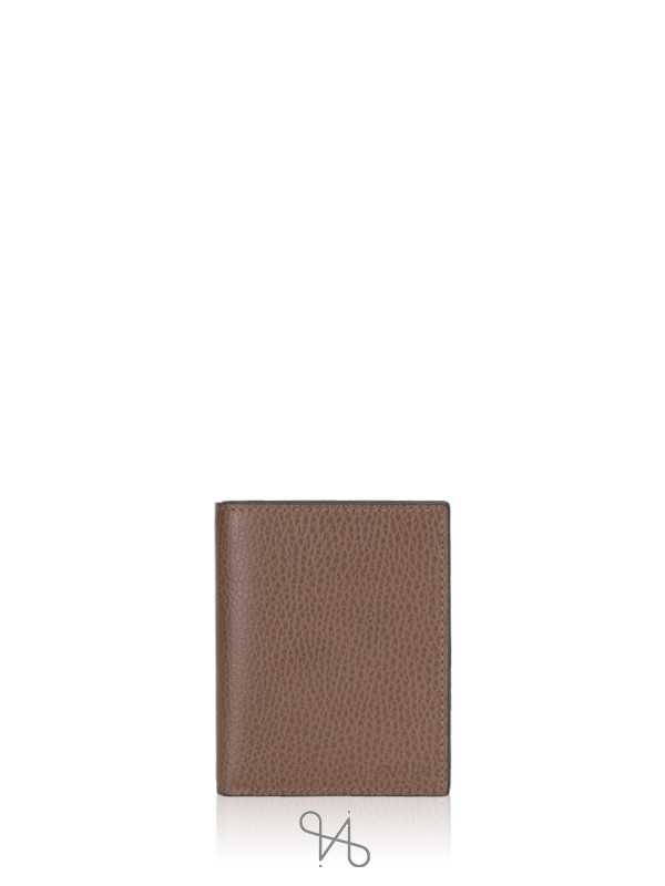 GUCCI Men Leather Bifold Wallet Brown
