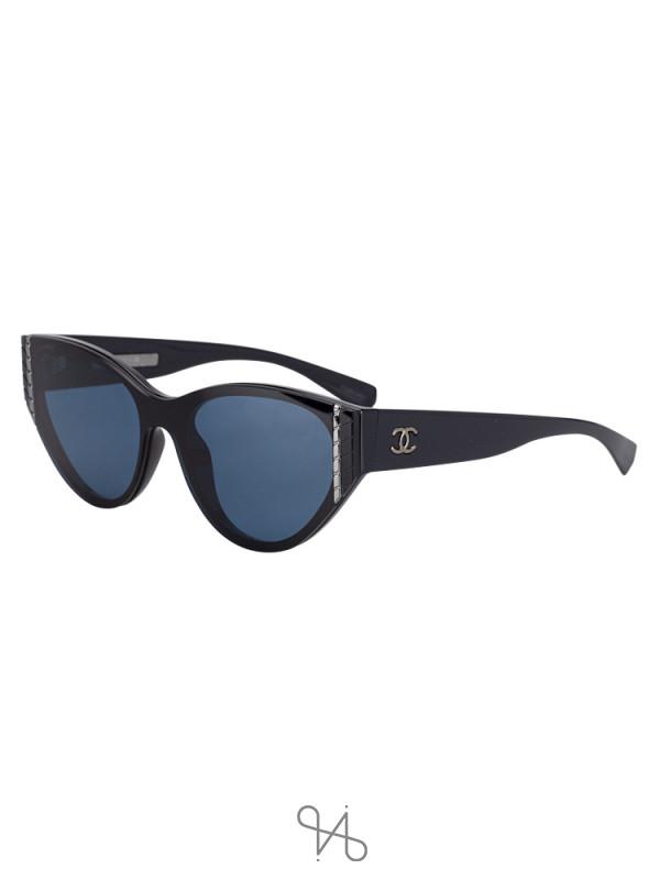 CHANEL 6054 Cat Eye Sunglasses Black