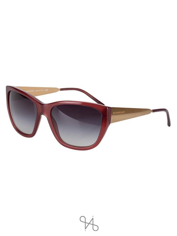 BURBERRY B4174 Sunglasses Opaque Berry Gold
