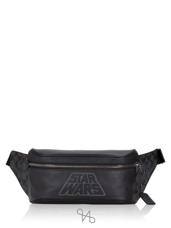 COACH Men 79948 Signature Star Wars Westway Belt Bag Black Multi