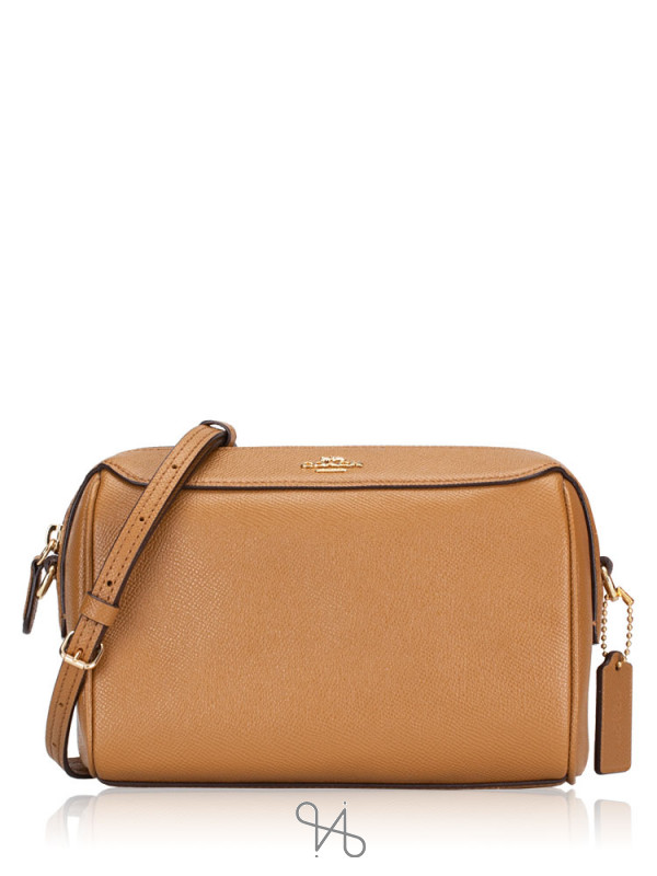 COACH 76629 Crossgrain Mini Bennett Crossbody Light Saddle