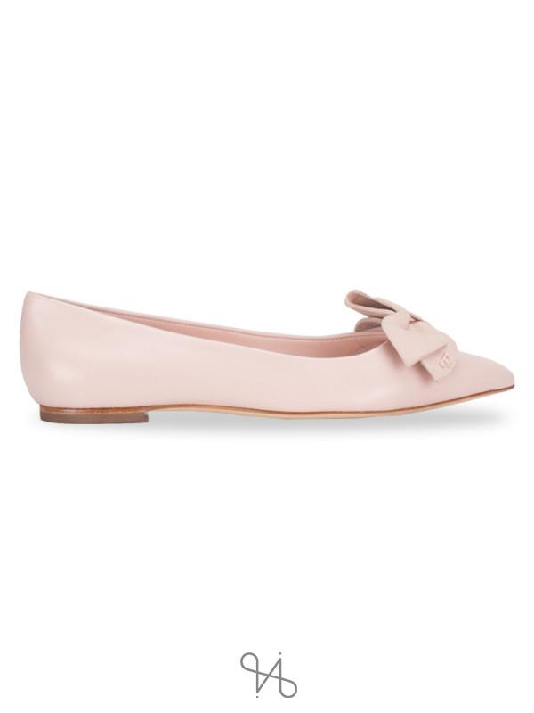 TORY BURCH Rosalind Ballet Flat Sea Shell Pink Sz 6.5